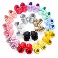 Infant Baby Soft Sole Crib Suede/Leather Shoes Boy Girl Toddler Moccasin 0-18M