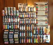 124 Lot TIM HOLTZ Distress Paints Satins Markers Ink Pads Glitter - SCRAPBOOKING