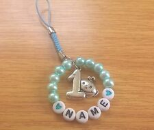 Personalised 1st Birthday Blue Keepsake Gift/Hanging with a Cute Baby '1' Charm