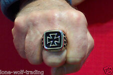 Iron Cross/Flame -Men's Ring - Stainless Steel-SR4008-JC