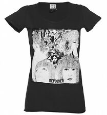 Official Women's Charcoal Beatles Revolver T-Shirt from Amplified