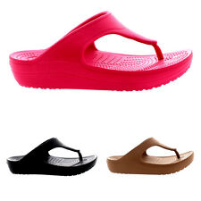 Womens Crocs Sloane Platform Flip Sandals Beach Lightweight Flip Flops US 3-12