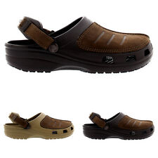 Mens Crocs Yukon Mesa Clog Comfort Leather Summer Holiday Sandal Shoes All Sizes