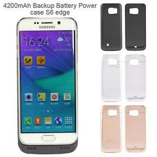 4200mAh Ultra-thin Backup Battery Power Bank Charger Case For Samsung S6 edge