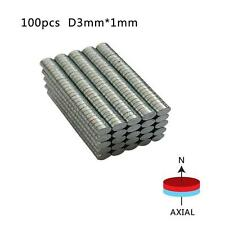 Newest 100pcs/200pcs Super Strong Disc 3x1mm Round Rare-Earth Neodymium Magnets