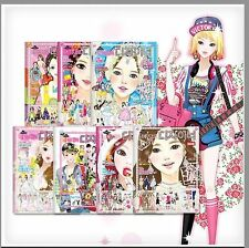 Korean DIY Fashion Creative Play book series inculding Stickers, Pattern Papers