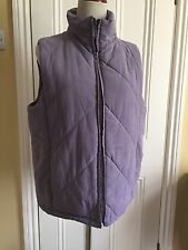 Ladies Tayberry & Co Mauve Padded Gilet size 16