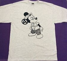 Seditionaries MICKEY MOUSE Drug Fix T-SHIRT Sex Pistols Punk Tee Grey ADULT L40""