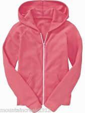 OLD NAVY Girls Jacket Size M 8 Lightweight Waffle Knit Zip Front Hoodie Pink NEW