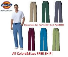 Dickies Men Gen Flex Youtility Scrub Pant  81003 All Colors&Sizes FREE SHIP!