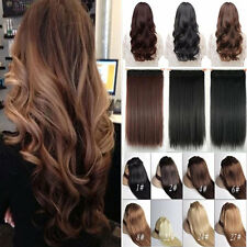 100% Natural As Human Hair Clip In Hair Extensions 3/4Full Head Remy Ombre H101