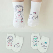 Cute Toddler Infant Girl Cotton Fashion Cartoon Non-slip Boy White Baby Socks