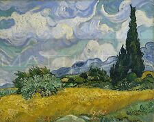 Vincent Van Gogh-Wheat Field With Cypresses, Canvas/Paper Print, Trees