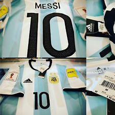 ADIDAS LIONEL MESSI 2016-17 ARGENTINA HOME JERSEY RUSSIA WORLD CUP FIFA PATCH