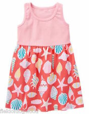NWT Gymboree Coral Seashell Dress Mix N Match Dress Toddler Girl SZ 3T,4T