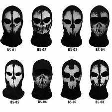 Call of Duty CoD Balaclava Ghost Mask Skull Face Mask Cosplay Skateboard Hood