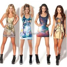 Fashion Women Sexy Space Galaxy top The Hobbit Middle Earth Map Short Mini OK
