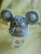 EGG Cozy / Cosy Christmas Choose from Animal designs, Grey Mouse,cat, dog,rabbit