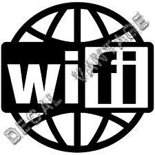 Wifi Spot Logo Globe Vinyl Sticker Decal - Choose Size & Color