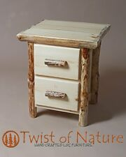 Log end table/ night stand  2 Drawer with lots of storage!