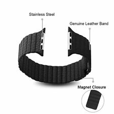 5 Colors Magnetic Genuine Leather WristWatch Band for Apple Watch iWatch 42mm
