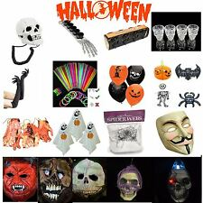 Halloween Spooky Party Decorations Spider Web Fake Blood Horror Mask Accessories