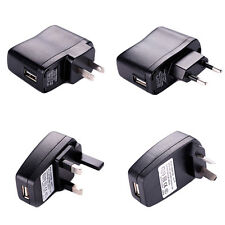 AC Power Supply Adapter US AU EU UK Plug For Cell Phone MP3 MP4 USB Wall Charger