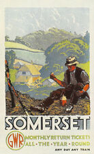 SOMERSET GWR VINTAGE TRAVEL RAILWAY METAL TIN SIGN POSTER WALL PLAQUE