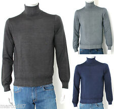TURTLENECK SWEATER MAN BRYAN DAVIS TURTLENECK SLIM FIT WOOL MERINO 100% PULLOVER