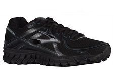 NEW MENS BROOKS ADRENALINE GTS 16 RUNNING SHOES TRAINERS BLACK / ANTHRACITE