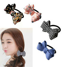 Womens Bow Knot Hair Band Elastic Rope Ring Hairband Scrunchie Ponytail Charm