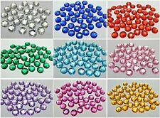 200 Flatback Acrylic Faceted Round Sewing Rhinestone Beads 12mm Pick Your Color