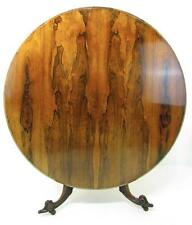 An Exceptional Antique William IV Rosewood Round Tilt Top Breakfast Center Table