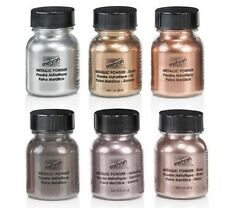 Mehron Metallic Powder Makeup-Eyeshadow-Face & Body Painting, Intense Metals