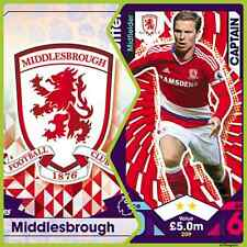 Match Attax 16 17 Middlesborough - Team Cards - Star Player - Club Badge - Away