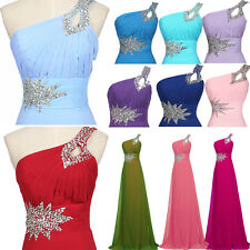 One Shoulder Women Dress Prom Ball Cocktail Party Dress Formal Evening Gown Long