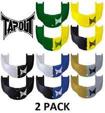 2 Pack Tapout Junior Youth Mouthguard   Boil and Bite   MMA Rugby Hockey Soccer