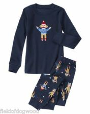 NWT GYMBOREE boys Gymmies SOCK MONKEY 2pc PAJAMAS Christmas Holiday SZ 7