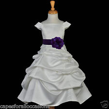 WEDDING IVORY FLOWER GIRL JUNIOR BRIDESMAID DRESS SIZE 2 2T 3T 4 4T 5T 6 6X 8 10