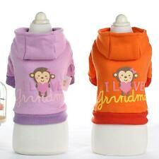Clothing For Dogs Pet Puppy Dog Clothes Winter Monkey Print Dog Sweater Hoodie