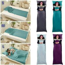 Outdoor Cotton Sleeping Bag Liner Travel Camping Hostel Inner Sheet w/ Carry Bag