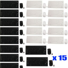 LOT 15 2.4G Optical Wireless Keyboard and Mouse USB Receiver Kit For PC Computer