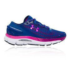 Under Armour Speedform Gemini Womens Blue Cushioned Running Road Shoes Pumps