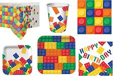 Block Birthday Party Napkins Plates Cups Tablecover Lego Inspired