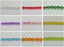 200 Transparent Faceted Acrylic Bicone Spacer Beads 8mm Pick Your Color