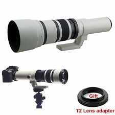 500mm f/6.3-f/32 Long Range Telephoto Lens For Canon Nikon Sony Camera+T mount