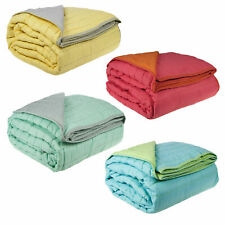 Summer Reversible Quilted Blanket by Ardor - Single / Double OR Queen / King