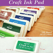 15Colors Craft  Rubber Non Toxic Colorful Quality Stamps Ink Pad (Free shipping)