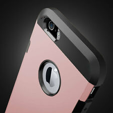 For iPhone 6 6s 7/7 Plus Shockproof Hard Plastic Rubber Silicone 2in1 Case Cover
