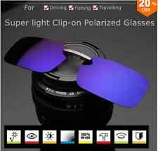 Polarized Clip On Sunglasses Sun Glasses Driving Night VisionLens ForMetal Frame